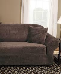 stretch sofa slipcover 2 piece sure fit stretch suede 2 piece sofa slipcover chocolate