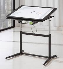 l shaped drafting desk black adjustable drafting desk coaster 800668