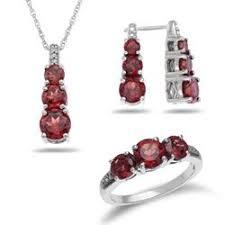 s birthstone earrings garnet jewelry set by zales garnet is january s birthstone wedding