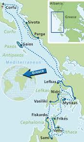 Greece On Map by Biking Island Hopping Tour To Ionian Islands 8 Days Greeka Com