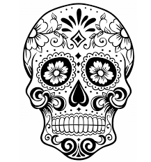 print sugar skull coloring pages to scary but