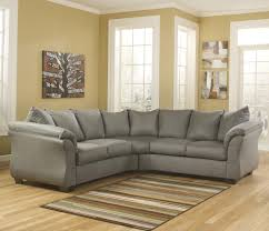Ashley Raf Sofa Sectional Contemporary Sectional Sofa With Sweeping Pillow Arms By Signature