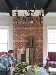 House Of Corbels How To Install A Wood Beam Mantle Corbels Nailheads 2 Of 7