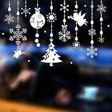 diy christmas wall sticker shop window sticker glass mall angel