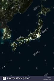 World Map At Night by Satellite Image Of Japan At Night This Satellite Image Shows