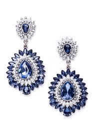 deluxe contrast starburst statement earrings in blue happiness
