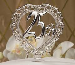 25th anniversary cake toppers this onw is really pretty but i can t quite tell if this glass
