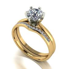 yellow gold bridal sets 18ct yellow gold 1 15 carat bridal set ring
