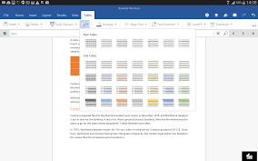format tables in word for android tablet preview news center