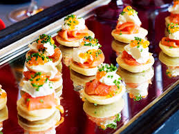canape ideas nigella blinis with smoked salmon and creme fraiche recipe recipe food
