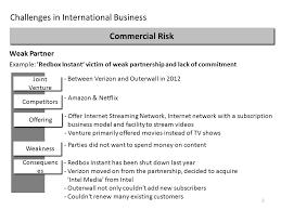 commercial risk model challenges in international business ppt download