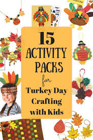 15 activity packs for turkey day crafting with kids