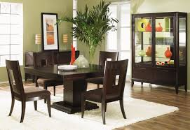 Wooden Home Decor Items Dark Wood Finish Modern Dining Room W Optional Items
