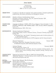 Unix Resume Job by 11 Curriculum Vitae Sample Job Application Basic Job Appication