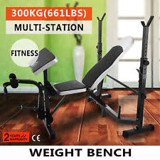 Olympic Bench Set With Weights Weight Bench Set Ebay