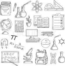 supplies sketch symbols for back to concept design
