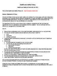 health and safety policy statement templates pinterest