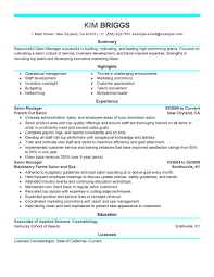 Marketing Specialist Resume Sample by Salon Resume Sample Free Resume Example And Writing Download