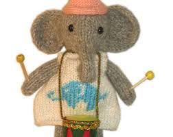 drum knitting pattern knitting elephant etsy