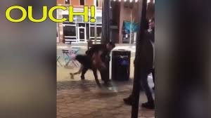 Slamming Head On Desk Young Woman Filmed Being Slammed Face Down On The Ground After She