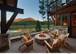 Outdoor Living Floor Plans by Exterior Mountain View From House Plan With Outdoor Living Room