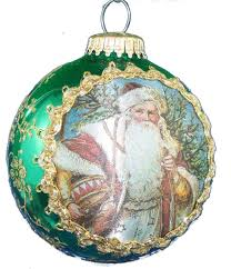 krebs glass with masters silk picture ornament country