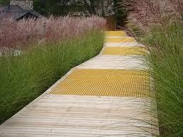 ornamental grass border landscape contemporary with hillside