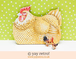 hen chopping board chicken ornaments vintage shop retro china