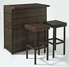 bar stools outdoor patio wicker furniture new resin pc bar table