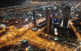 wallpaper megapolis skyscrapers united arab emirates lighting