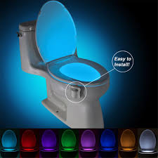 led toilet motion activated pir light sensor toilet lamp led night