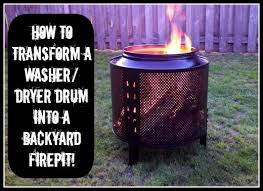 Washing Machine Firepit My Name Is Not King Diy How To Make A Backyard Firepit Out Of
