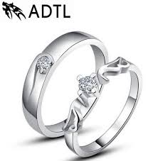 silver hand rings images Korean couple rings s925 silver wedding ring angels hand jewelry jpg