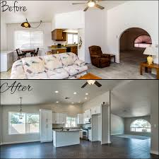 home design before and after fix and flip home investing with the guerrero before vs