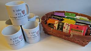 tea themed gifts for teachers with snapfish an organised mess