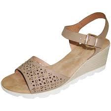 grey high wedge sandals