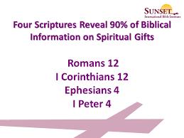 biblical gifts spiritual gifts seminar ppt