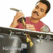 Installing New Kitchen Faucet How To Replace A Kitchen Faucet Family Handyman