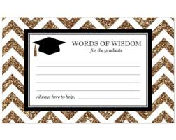 Words For Graduation Cards Advice Cards Graduation Wish Hope Printable Open