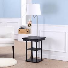 brightech store madison floor lamp with built in two tier black