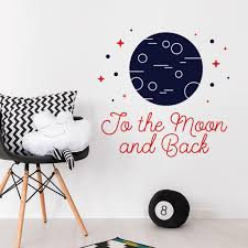 the moon and back inspirational quote wall decal sticker the moon and back inspirational quote wall decal sticker