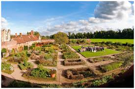 walled garden cowdray wedding scott wood photography