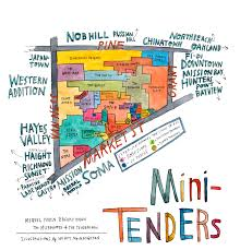 san francisco map of usa mini tenders the bold italic san francisco the bold italic