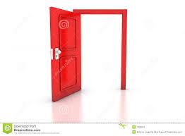 Red Door Open Red Door Stock Images Image 7900024