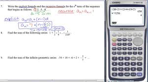 sample test unit 8 sequences and series part 1 youtube