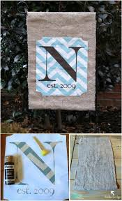 18 adorable diy garden flags for a warm and welcoming home diy