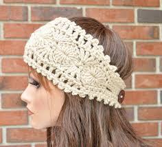crochet bands crochet ear warmer handmade accessory womens crochet headband in