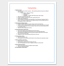 training course outline template 24 free for word u0026 pdf format
