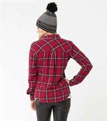 metal mulisha motocross boots metal mulisha womens bridgett flannel shirt burgundy available at