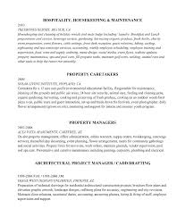 Property Manager Job Description For Resume by Property Caretaker Couple Cv Resumes